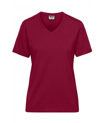 Donna Ladies' BIO Workwear T-Shirt - SOLID - Wine 8731
