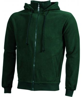 Unisex Microfleece Hooded Jacket Dark-green 7337