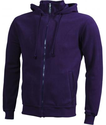 Unisex Microfleece Hooded Jacket Aubergine 7337