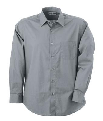 Homme Chemise popeline manches longues homme Gris-froid 7338
