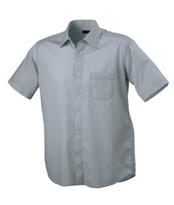 Men Men's Shirt Classic Fit Short Cool-grey 7339