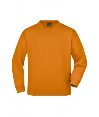 Unisexe Sweat-shirt lourd col rond Orange 7346