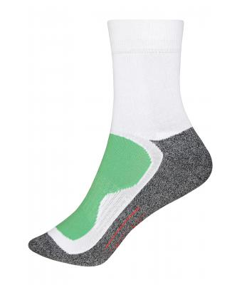 Unisex Sport Socks White/green 7356
