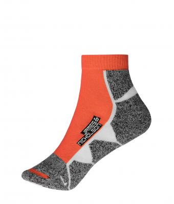 Unisex Sport Sneaker Socks Bright-orange/white 8669