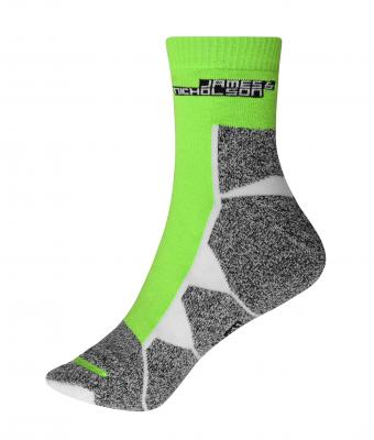 Unisex Sport Socks Bright-green/white 8670