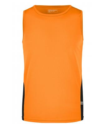 Men Men's Running Tank Orange/black 7361