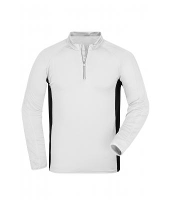 Men Men's Running Shirt White/black 7363