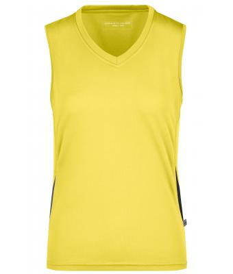 Damen Ladies' Running Tank Yellow/black 7371
