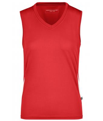 Ladies Ladies' Running Tank Red/white 7371