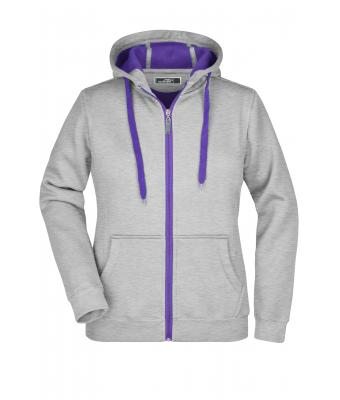Ladies Ladies' Doubleface Jacket Grey-heather/purple 7417