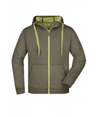 Men Men's Doubleface Jacket Olive/lime-green 7418