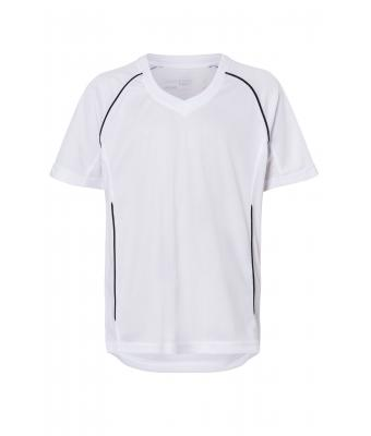 Kids Team Shirt Junior White/black 7455
