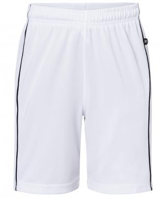 Kids Basic team Shorts Junior White/black 7457