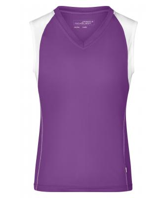 Damen Ladies' Running Tank Purple/white 7464