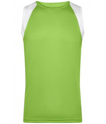 Men Men's Running Tank Lime-green/white 7465