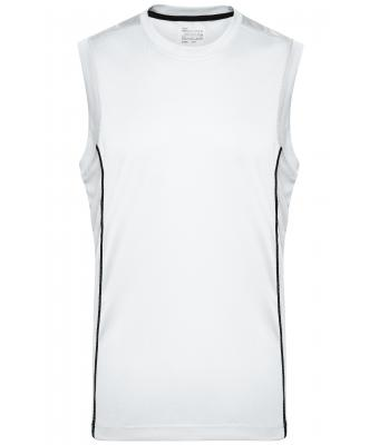 Men Men's Running Reflex Tank White/black 7489
