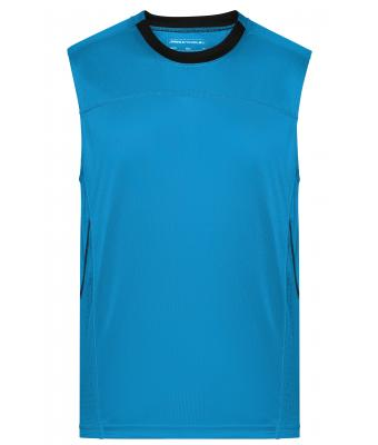 Herren Men's Running Tank Atlantic/black 8200