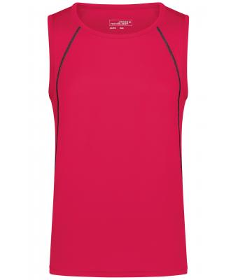 Herren Men's Sports Tanktop Bright-pink/titan 8463