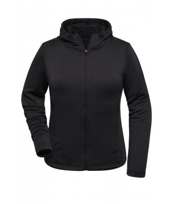 Damen Ladies' Sports Zip Hoody Black 10249