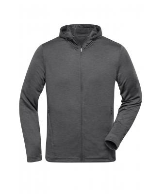 Herren Men's Sports Zip Hoody Dark-melange 10250