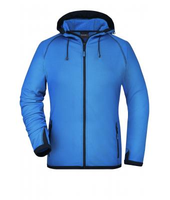 Ladies Ladies' Hooded Fleece Aqua/navy 8025