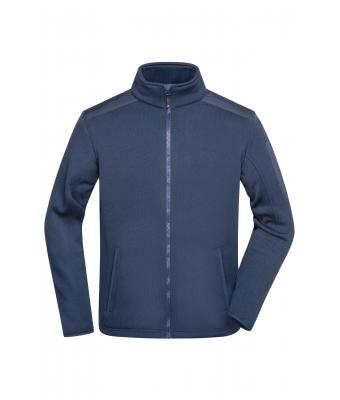 Herren Men's Knitted Fleece Jacket Navy/navy 8046