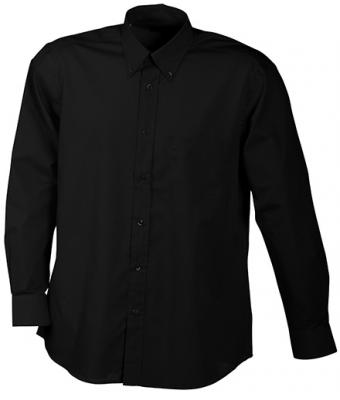 Herren Men's Promotion Shirt Long-Sleeved Black 7524
