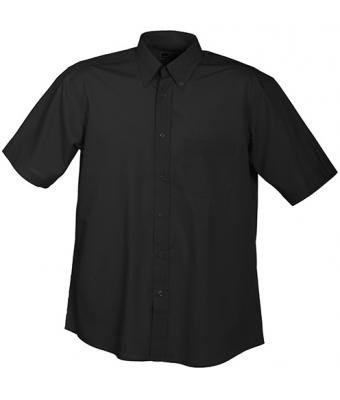 Herren Men's Promotion Shirt Short-Sleeved Black 7525