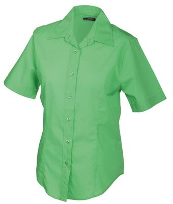 Damen Ladies' Promotion Blouse Short-Sleeved Lime-green 7527