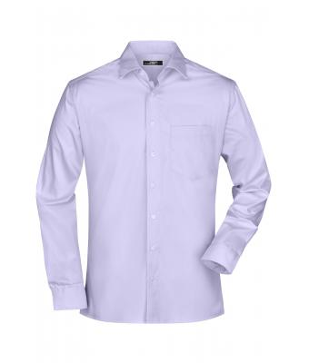 Herren Men's Business Shirt Long-Sleeved Lilac 7530