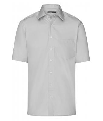 Men Men's Business Shirt Short-Sleeved Light-grey 7531