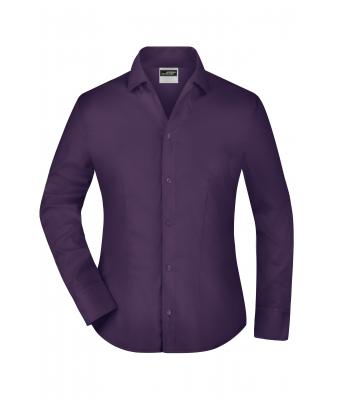 Damen Ladies' Business Blouse Long-Sleeved Aubergine 7532