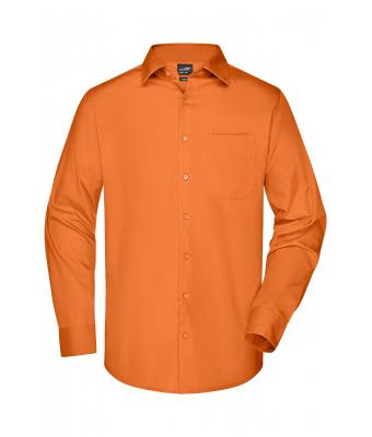 Herren Men's Business Shirt Long-Sleeved Orange 8389