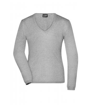Damen Ladies' Pullover Light-grey-melange 8364