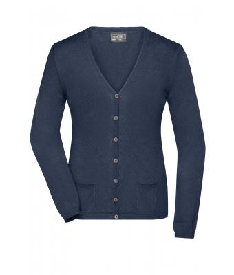 Damen Ladies' Cardigan Navy-melange 8367