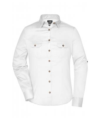 Donna Ladies' Traditional Shirt Plain White 8488