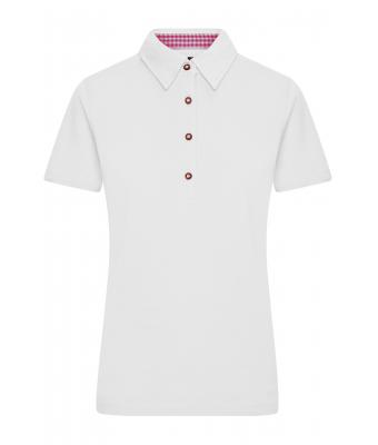 Damen Ladies' Traditional Polo White/purple-white 8449