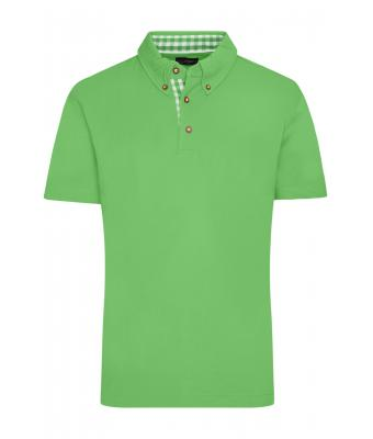 Herren Men's Traditional Polo Lime-green/lime-green-white 8450