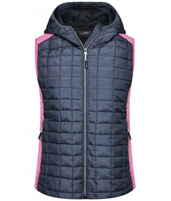 Damen Ladies' Knitted Hybrid Vest Pink-melange/anthracite-melange 8679