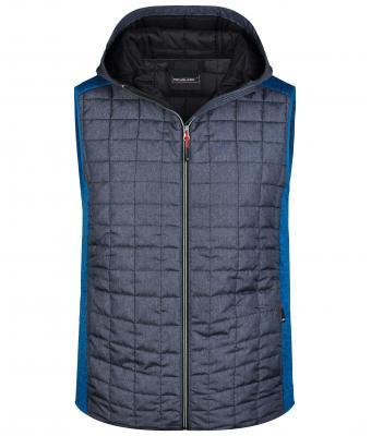 Herren Men's Knitted Hybrid Vest Royal-melange/anthracite-melange 8680