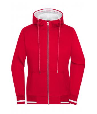 Damen Ladies' Club Sweat Jacket Red/white 8577