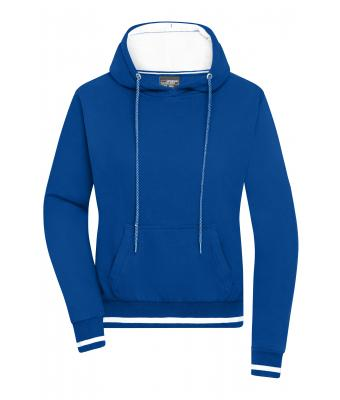 Damen Ladies' Club Hoody Royal/white 8579