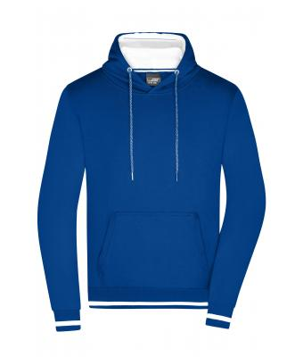 Homme Sweat shirt tendance homme Royal/blanc 8580