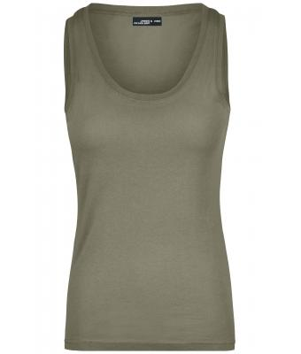 Damen Ladies' Tank Top Khaki 7555
