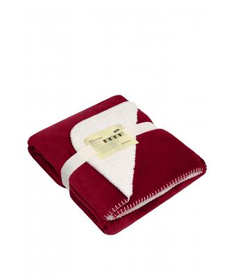 Unisex Cosy Hearth Blanket Burgundy/natural 8020
