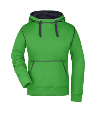 Damen Ladies' Lifestyle Hoody Green/navy 8079