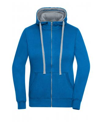 Damen Ladies' Lifestyle Zip-Hoody Cobalt/grey-heather 8081