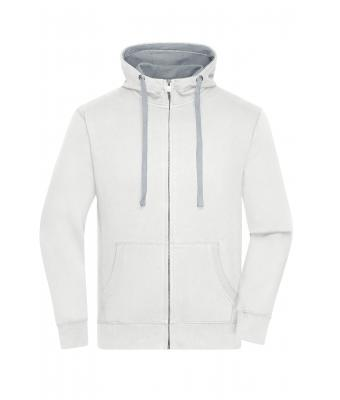 Herren Men's Lifestyle Zip-Hoody Off-white/grey-heather 8082