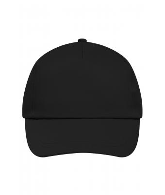 Unisex 5 Panel Promo Cap Lightly Laminated Black 7570
