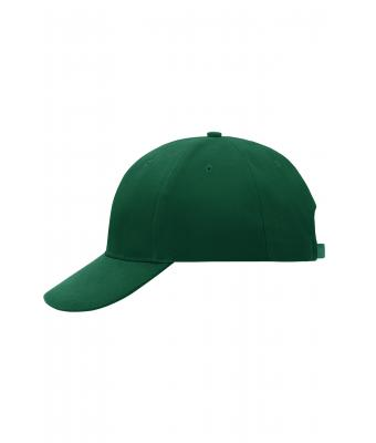 Unisex 6 Panel Cap Laminated Dark-green 7583